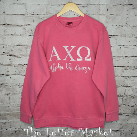 Comfort Colors Sorority Crewneck - The Letter Market
