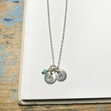 Small Circle Initial Necklace - from $27