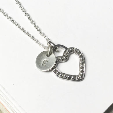 Beaded Heart and Initial ~ from $47
