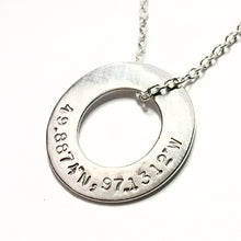 Coordinates Circle Necklace