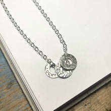 Family Circle Necklace - small floating