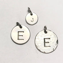 Large Initial Circle Necklace - from $36