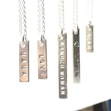 Small Bar Necklace - 2-sided stamping - from $45