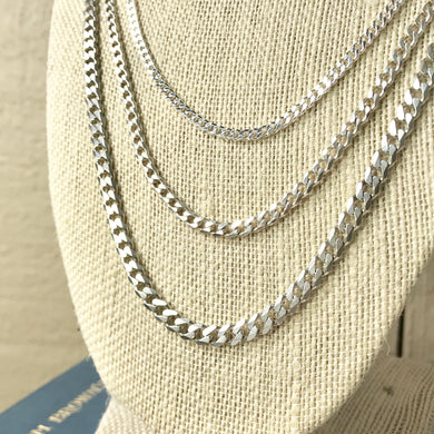 Sterling Curb Chains - from $34