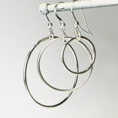 Smooth Circle Earrings ~ 3 sizes