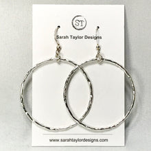 Hammered Circle Earrings ~ 3 sizes