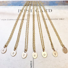 Monogram Oval Necklace - Gold Filled - From $32