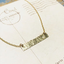 Horizontal Bar Necklace - Gold Filled Necklaces