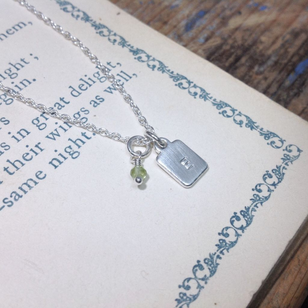 Initial Necklace Short Tags - From $26