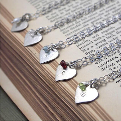 Monogram Heart & Gem Necklace Group Gift Ideas