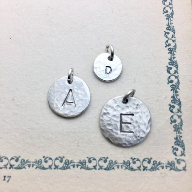 Monogram Circle Charms - From $8 A La Carte