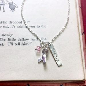 Cancer Awareness Necklace Charm