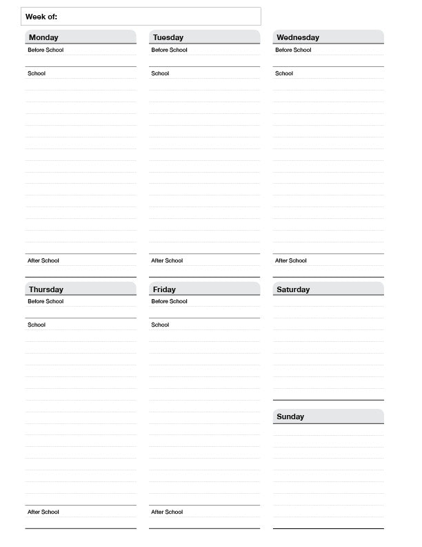 Teacher Planner - Undated (FREE Downloadable)