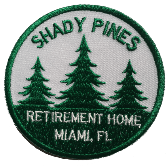 'SHADY PINES' IRON-ON PATCH - SOLD OUT - **Preorder for mid February shipping**