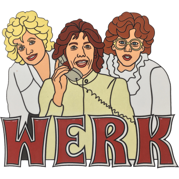 'WERK' 9 to 5 STICKER 2-pack