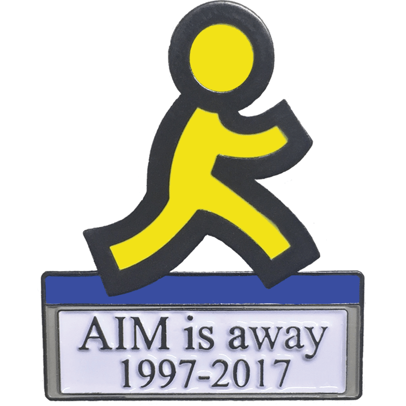 AIM is away 1997-2017 Pin