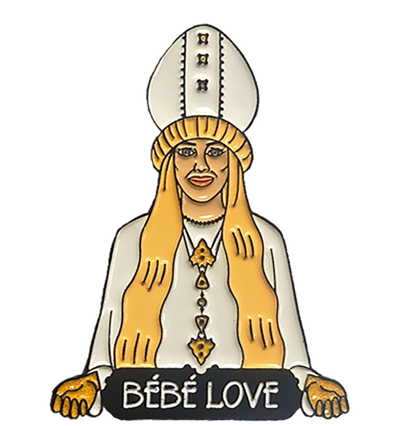 Schitt's Creek - Moira Rose 'BEBE LOVE' Enamel Pin w/FREE SHIPPING!!!