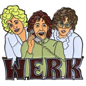 WERK 9 to 5 enamel pin