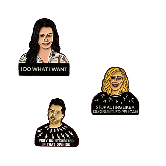 Schitt's Creek 3-Pin Set FREE SHIPPING