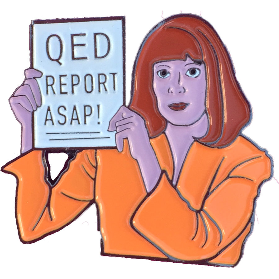 QED Report ASAP Enamel Pin