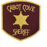 "'MURDER SHE WROTE' Cabot Cove Sheriff Iron-on 3"" Patch"