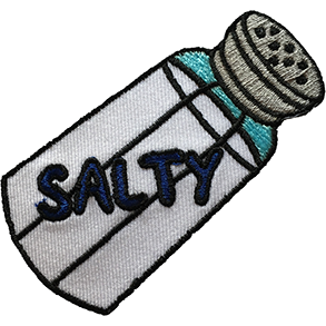 'SALTY' iron-on PATCH