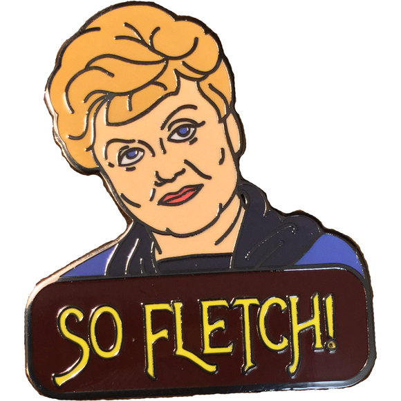 'So Fletch!' MURDER SHE WROTE Enamel Pin