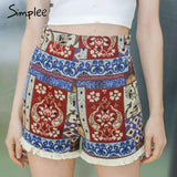 Vintage zipper short high waist shorts