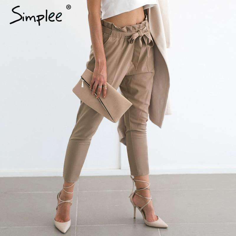 Apparel OL chiffon high waist harem pants - sale44
