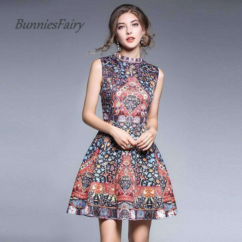 Mini Tank Dress High Waist Women Robe Vestidos - sale44