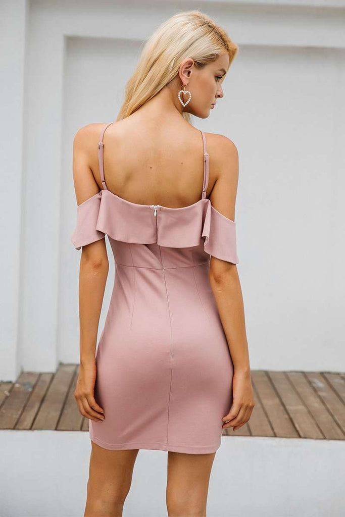 Sexy Backless Split Bodycon Dress - sale44