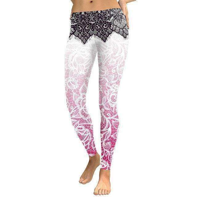 3D Digital Printing Slim Pink Fitness Woman leggins Pencil Pants - sale44