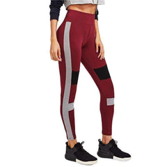 Color Block Cut And Sew Leggings - sale44