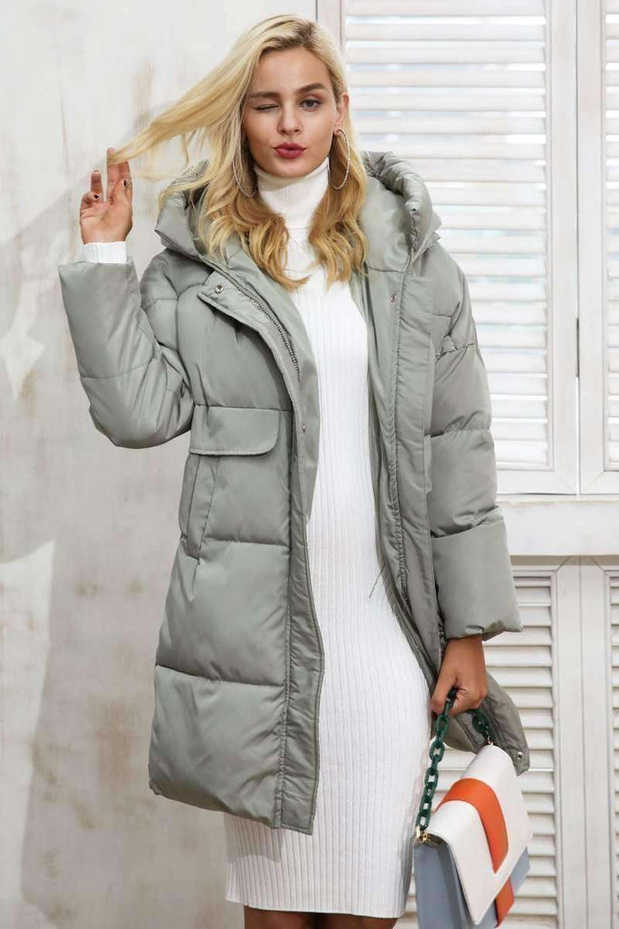 Winter padded hooded coat parka - sale44