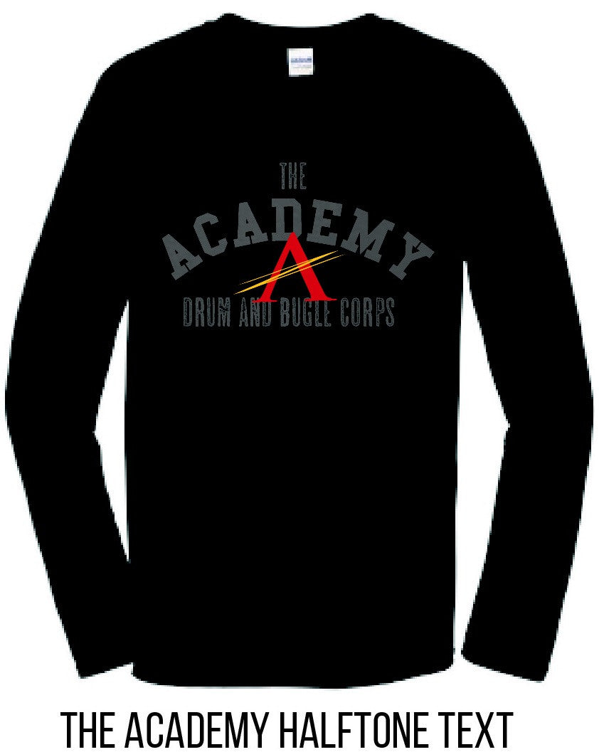 Long Sleeve Black Academy Tee