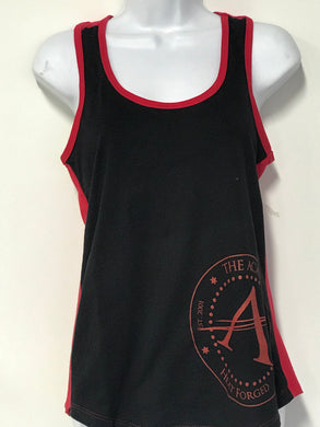 Ladies Tank Top Red/Black