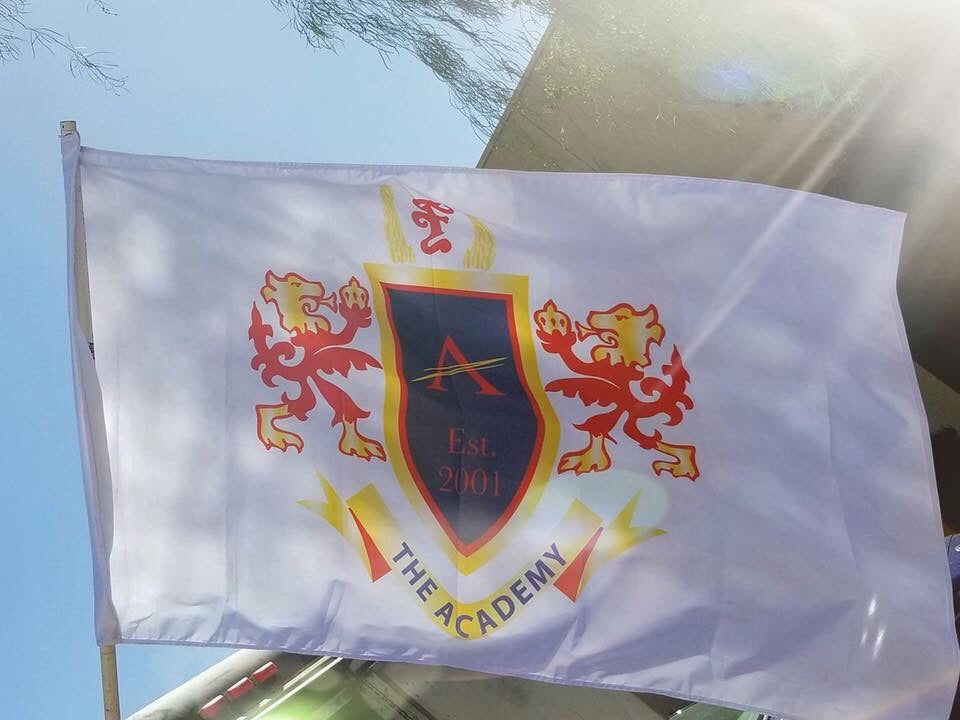 Novelty Academy Crest Flag