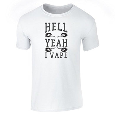 New design T shirt men brand clothing fashion Novelty Style Hell Yeah I Vape Personality Cotton Tshirt