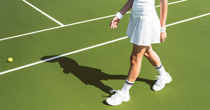 Well Played Tennis Absent Minded Partner Woman Walking On Court