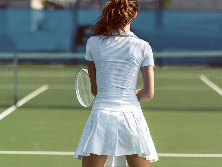 Woman Wearing Tennis Whites