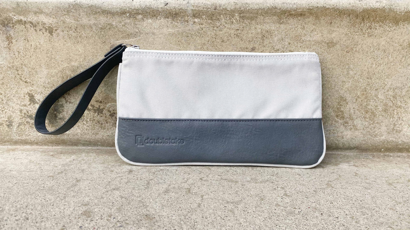 Doubletake tennis accessory pouch in Ivory white