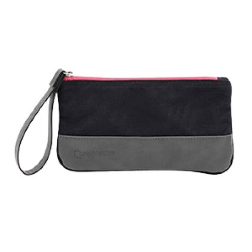 Doubletake navy and watermelon accessory pouch.
