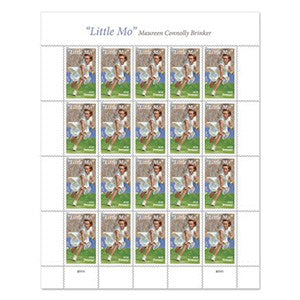 Tennis themed stamps.