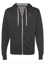 Michigan Awesome Patch Zip Hoodie