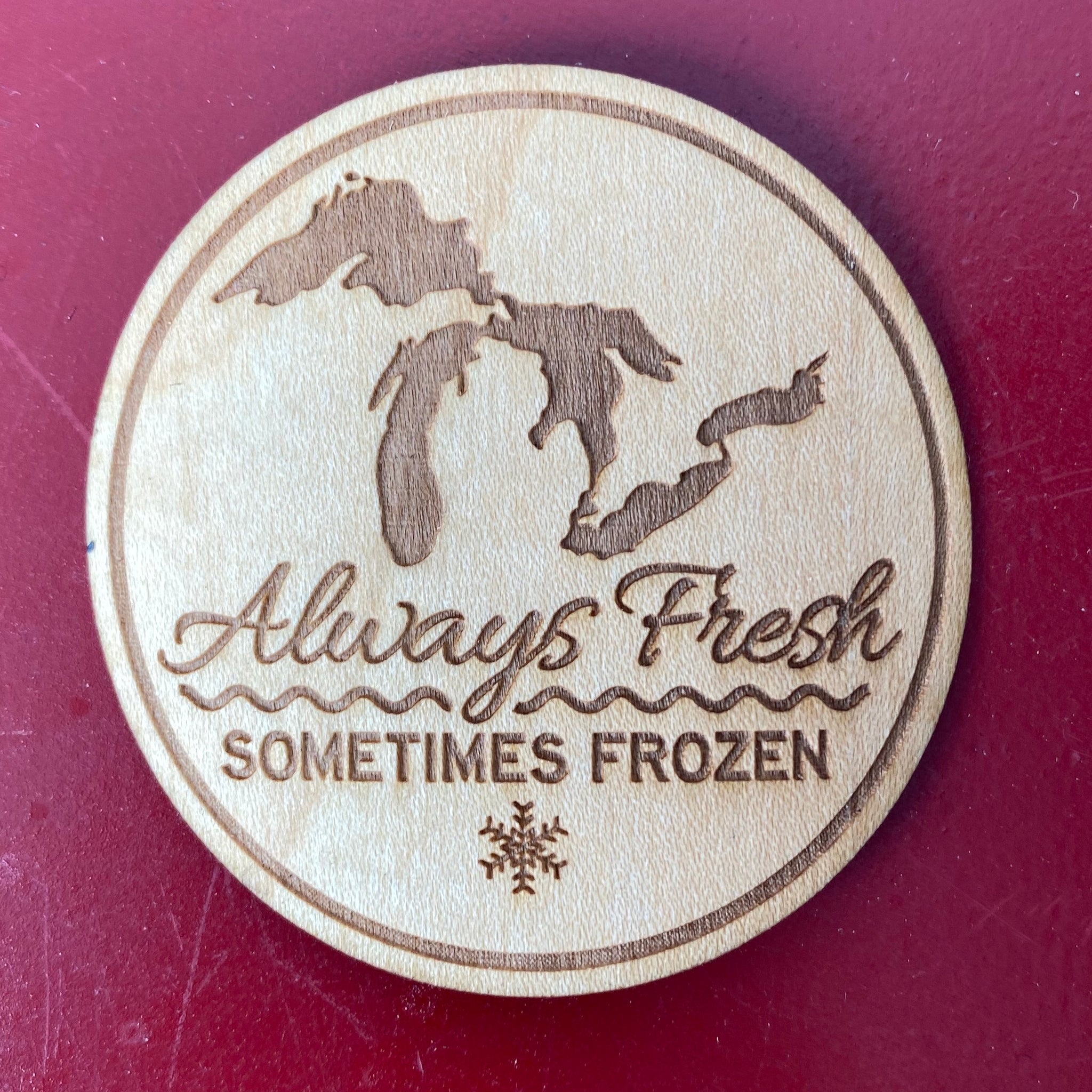 Always Fresh Sometimes Frozen Wooden Stickers | Tangico