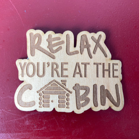 Relax Cabin Wooden Stickers | Tangico