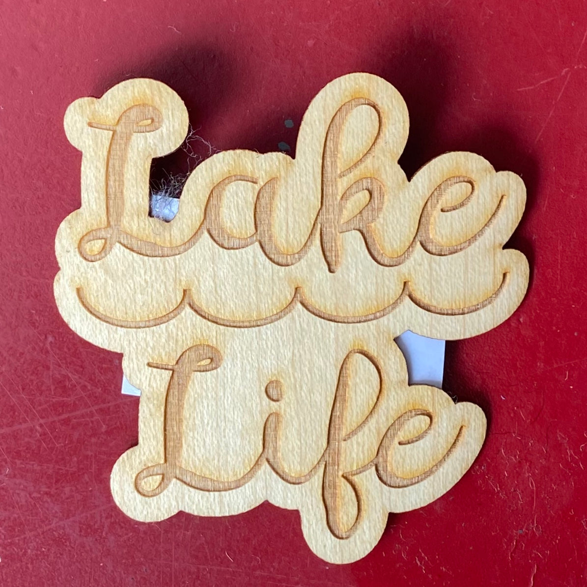 Lake Life Script Wooden Stickers | Tangico
