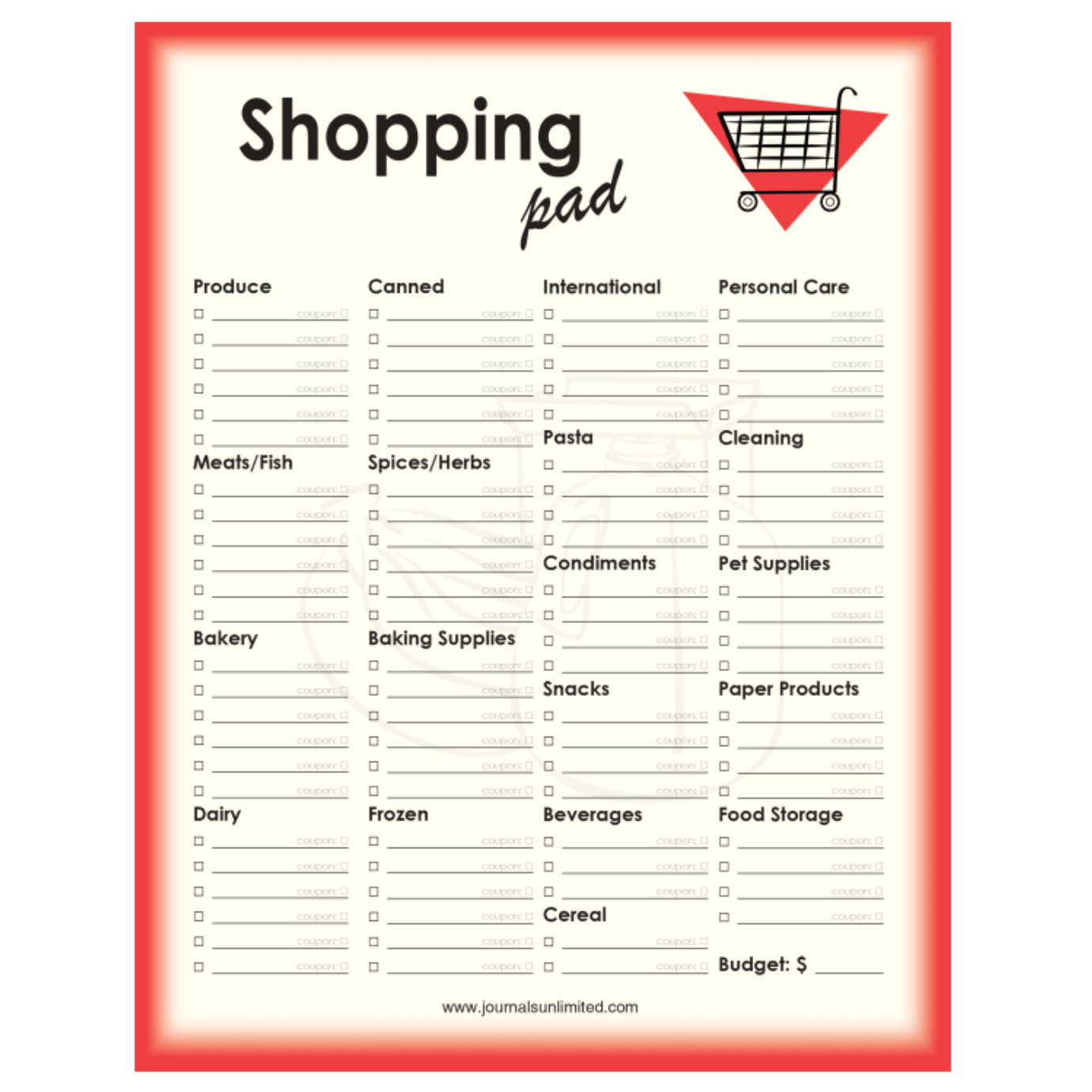 Shopping List | Jumbo Notepad