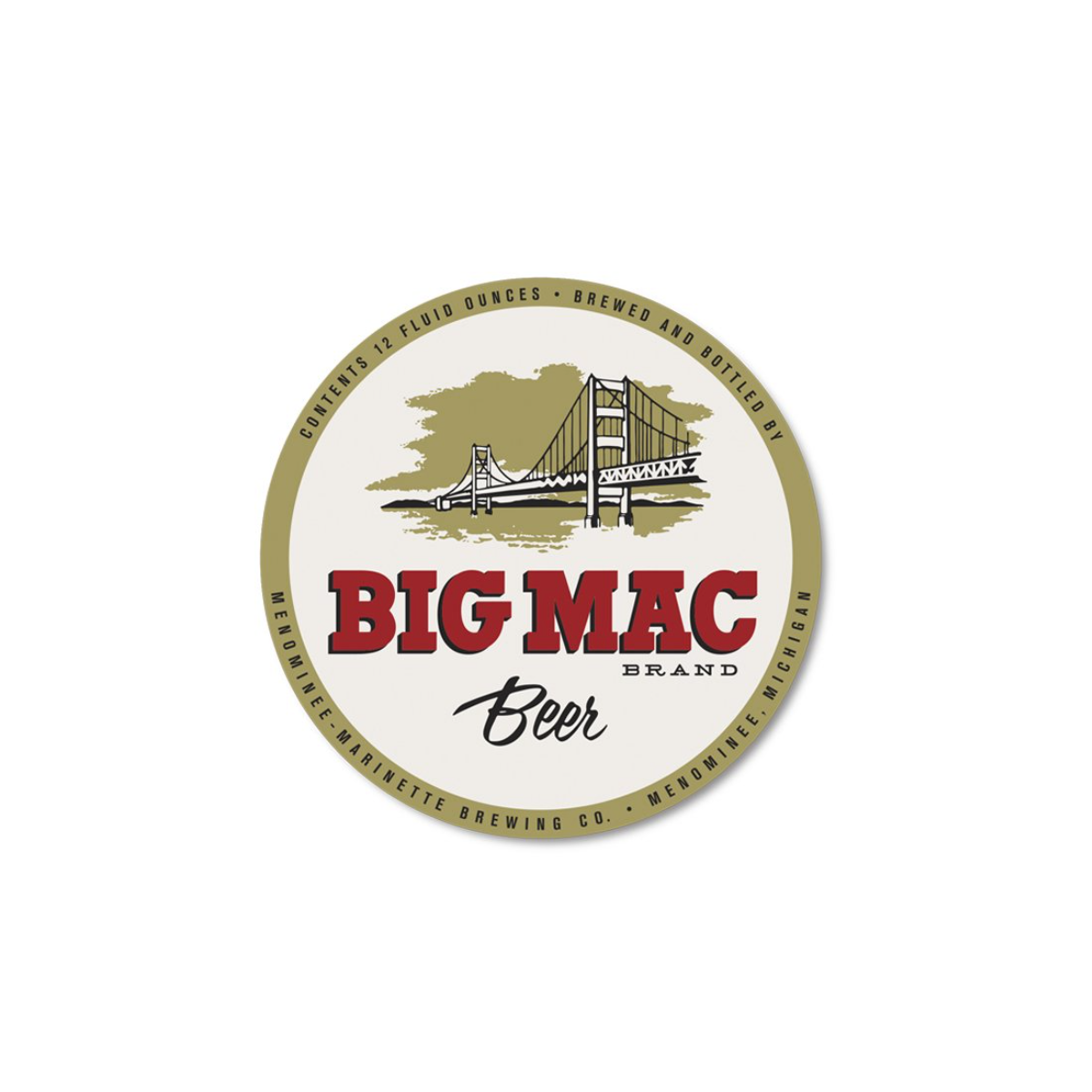 Big Mac Beer Sticker