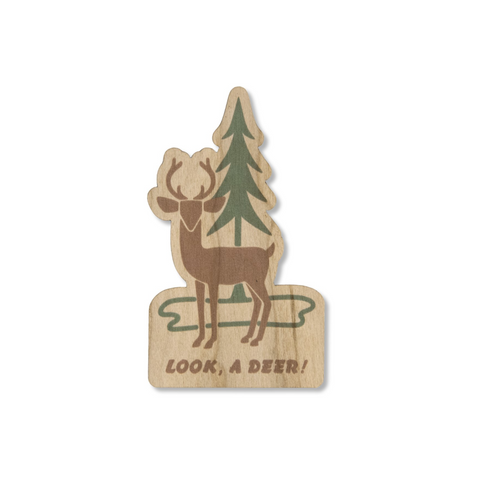 Look, A Deer Wooden Sticker